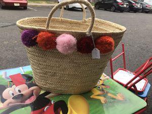 Wicker basket for Sale in Clifton, NJ