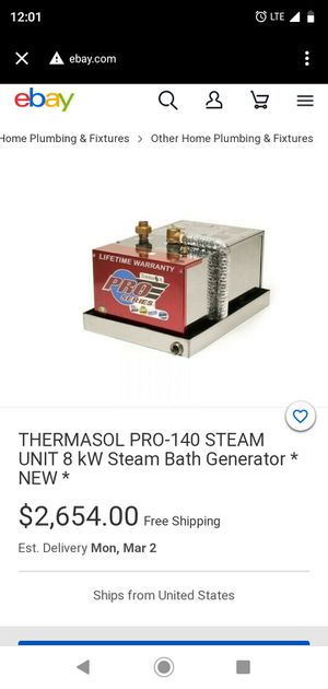 Steam genartaor for Sale in Houston, TX