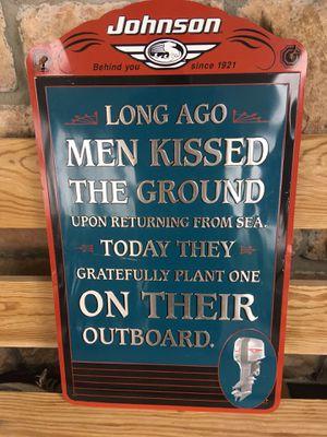 Johnson outboard motor sign for Sale in Camdenton, MO