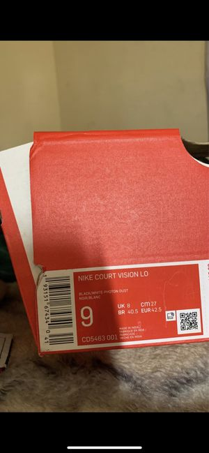 Nike court vision lows size 9 for men for Sale in Corona, CA