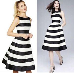 Adrianna Papell Black Striped Midi Formal Dress for Sale in Hackensack, NJ