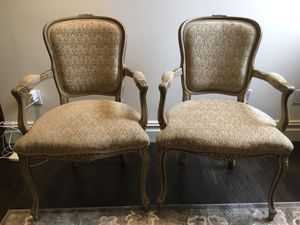2 wooden antique armchairs with upholstery in great condition for Sale in New York, NY