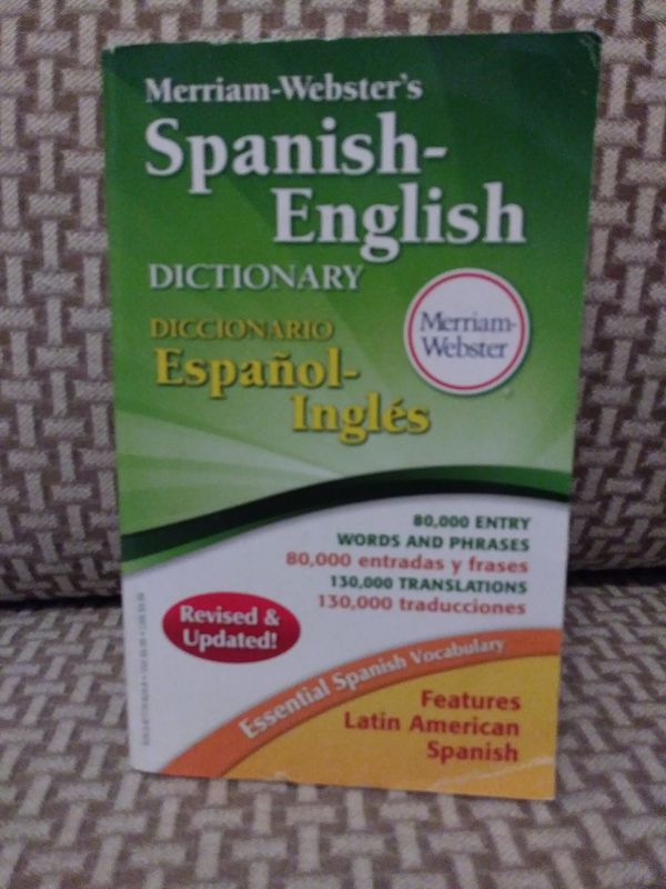 SPANISH- ENGLISH DICTIONARY- MERRIAM- WEBSTER'S. BRAND NEW!!!