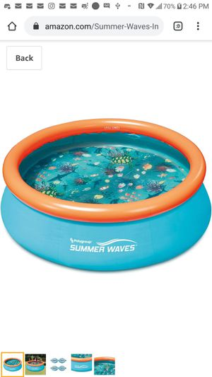 Summer Waves 8ft x 30in Small Kiddie Inflatable Kids Above Ground Swimming Pool for Sale in Tulare, CA
