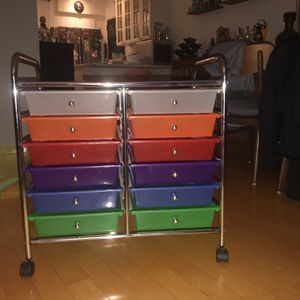 12-Drawer Rolling Storage Cart / $40 for Sale in Miami, FL