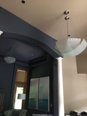 2 custom glass chandeliers for Sale in Seattle, WA