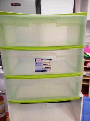 3 drawer plastic storage bin. for Sale in Spring Hill, FL