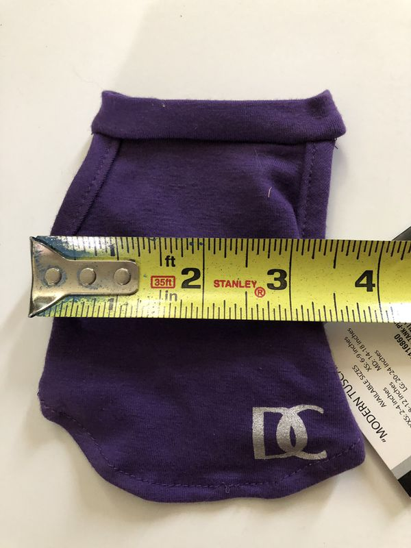 XXS dog shirts purple Tan new