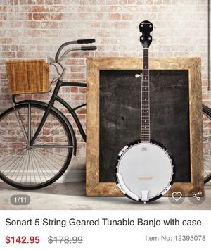 Five-string banjo with bag case for Sale in Rancho Cucamonga, CA