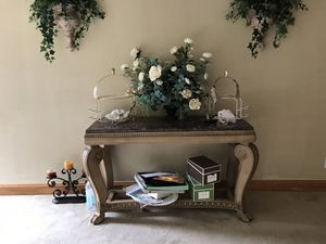 Marble/Wood Console Table for Sale in NJ, US