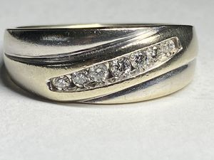 Gorgeous solid white gold 14KT Ring Genuine Diamond Zales Ring size 10.5-11 for Sale in North Miami Beach, FL