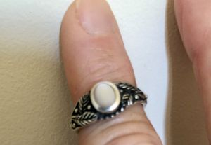 Sterling silver mother of pearl ring size 7 for Sale in Morgantown, WV