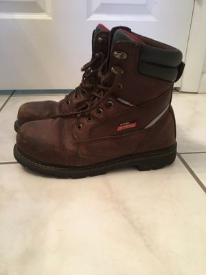 8 1/2 Dickies steel toe/whether proof work boots for Sale in Sebring, FL