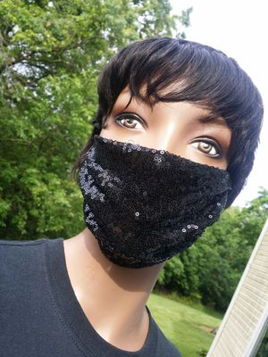 Black Sequin Face Mask Special Event for Sale in Milford Mill, MD