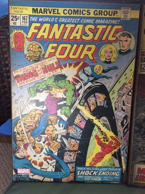 Marvel- The Fantastic Four #167 Wooden wall art poster for Sale in Lakeside, AZ