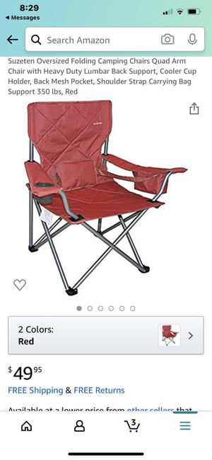 Brand New‼️ Suzeten Oversized Folding Camping Chairs for Sale in Fountain Valley, CA