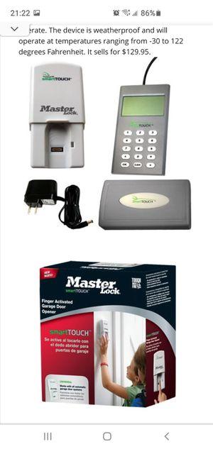 Master lock smart lock garage door opener programmable with finger print scanner for Sale in South Jordan, UT