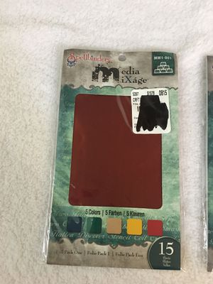 Spellbinders Media Mixage Foil packs 1 & 2, 15 sheets each for Sale in Clovis, CA
