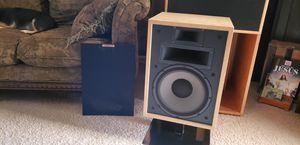Completely Original Klipsch Heresy II Vintage Speakers (Birchwood) Consecutive Serial #'s for Sale in Maricopa, AZ