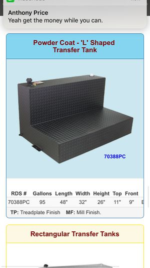 RDS 95 gallon AUX tank for Sale in Richardson, TX