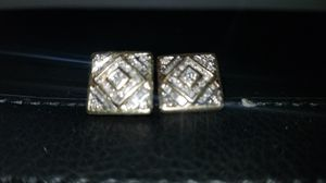 5krt diamond earrings screw back 14k gold for Sale in Charlotte, NC
