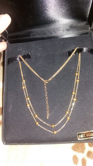 14 K. YELLOW GOLD MULTI BEADED NECKLACE for Sale in Millersville, PA