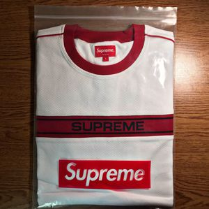 Supreme Classic Stripe Logo Jersey - L for Sale in Hillsboro, OR