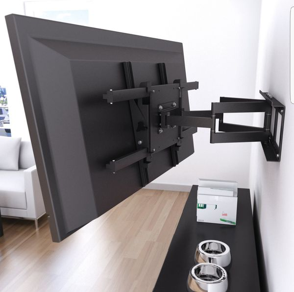 Tv mounting service-- with flat tilting and full motion swivel tv wall mounts