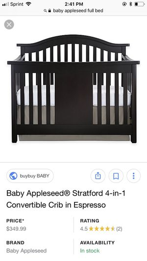 Baby Appleseed 4-in-1 convertible crib for Sale in Austin, TX