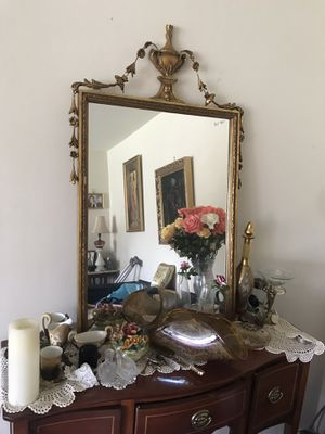 Antique foliage gold Mirror for Sale in West McLean, VA