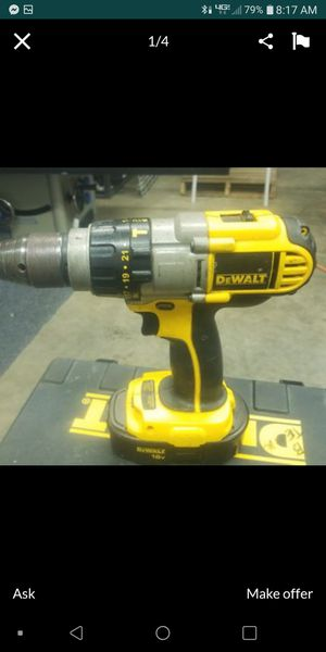 Dewalt 18 V Hammer drill, battery and charger for Sale in Indianapolis, IN