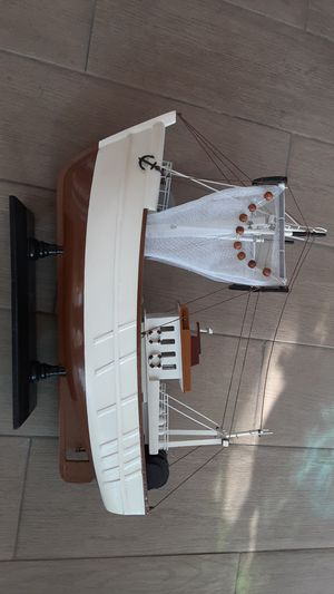 Decorative wooden Model fishing boat for Sale in Alhambra, CA