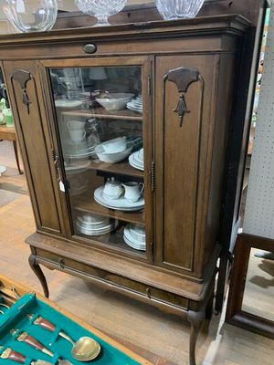 Dark Walnut China Display Cabinet for Sale in Beaver Falls, PA