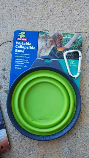 Dog bowl and collar for Sale in Fontana, CA