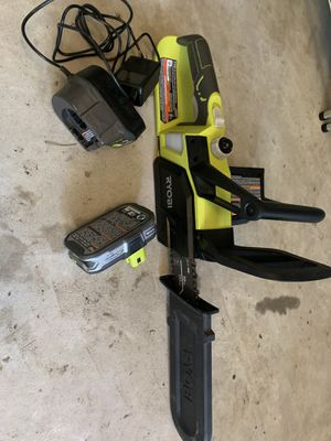 ryobi 10 inch 18v chainsaw with battery and charger for Sale in League City, TX
