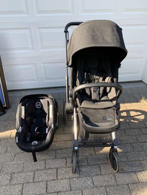 Cybex Priam stroller with Cybex Aton Q car seat for Sale in Renton, WA