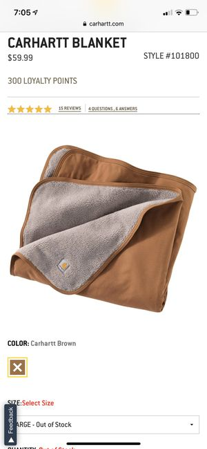 "Carhartt Blanket 59"" x 45"" for Sale in Irvine, CA"