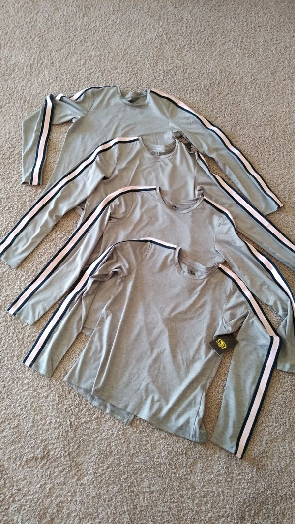 4 New Beautiful Athletic Long Sleeve Shirts , kids size L 10/12. ( New with tag ) price for all