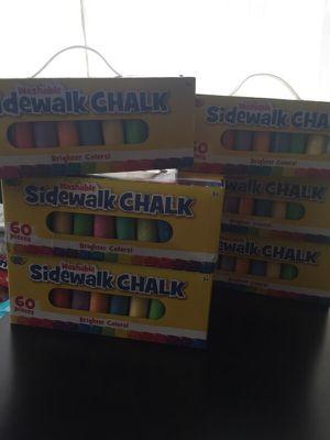 60 pc sidewalk chalk for Sale in Hialeah, FL