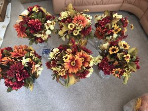 6 Bridesmaid Bouquets /Table Arrangements/Fall Flowers for Sale in Morrisville, NC