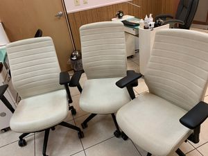 3 white office chairs for Sale in Lorton, VA
