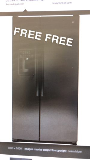 Black GE refrigerator not working *stock photo* for Sale in Sudley Springs, VA