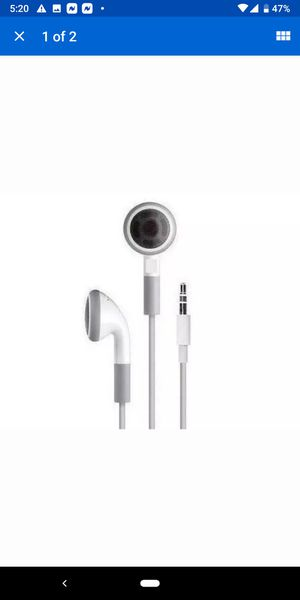 White Stereo 3.5mm in-ear earbuds/headphones buy one get one free for Sale in Fridley, MN