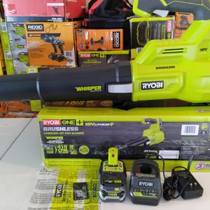 Lithium-Ion Brushless Cordless Jet Fan Leaf Blower - 4.0 Ah Battery and Charger Included for Sale in Rialto, CA