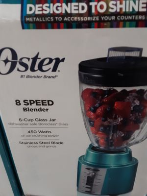 OSTER BLENDER GLASS JAR 8 SPEEDS 450 WATTS STAINLESS STEEL BLEND 6 CUP GLASS JAR for Sale in South Gate, CA