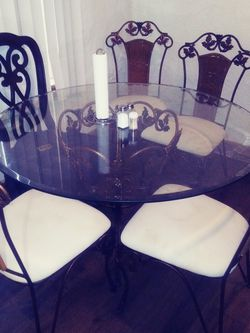 Glass Table 4 Matching Chairs for Sale in Pittsburgh,  PA