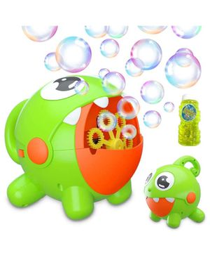 Bubble Machine, Bubble Toy for Kids Automatic Bubble Machine 3000 Bubbles Per Minute, Durable Bubble Blower for Kids, Party, Wedding, Outdoor Indoor for Sale in Cumming, GA