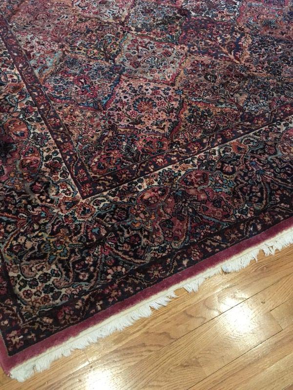Kirman worsted wool rug 8.8x12' - $950