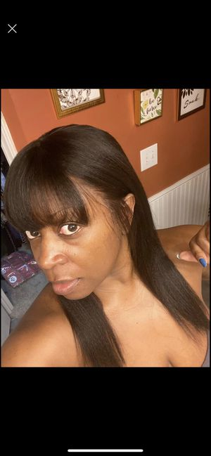 Human hair HD full lace wig with bangs for Sale in Winston-Salem, NC
