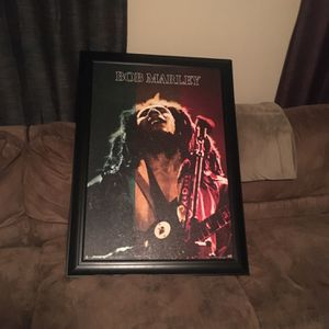 Bob Marley Picture Frame $75 Or Best Offer for Sale in Sloan, NV